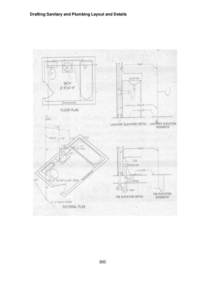 Module Module Draft Sanitary And Plumbing Layout And Details - Bathroom plumbing layout drawing