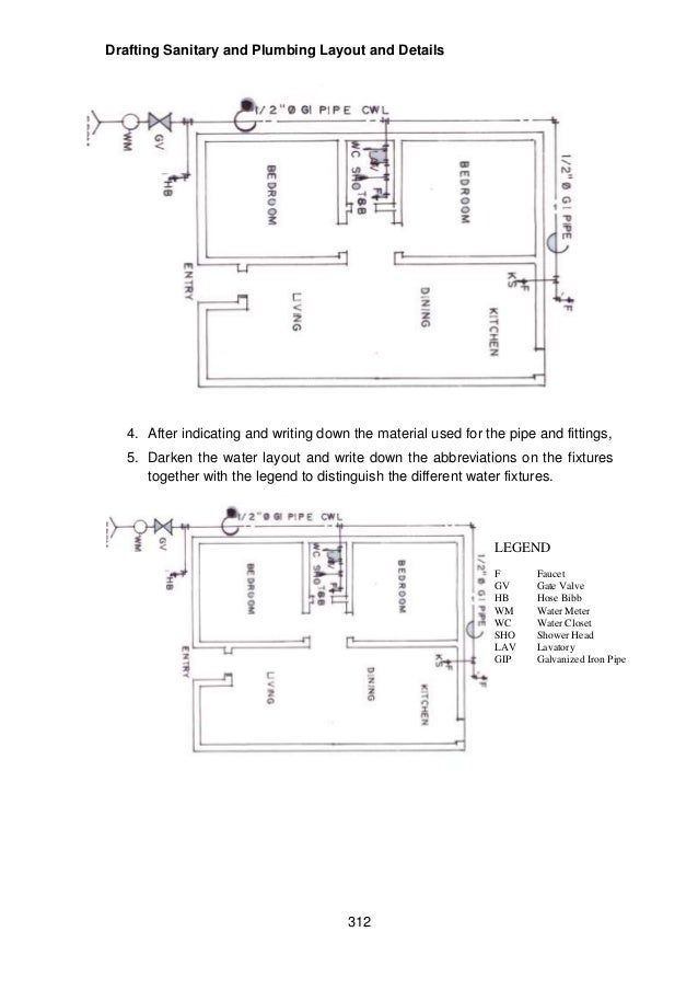 Module 6 module 4 draft sanitary and plumbing layout and details drafting malvernweather Images