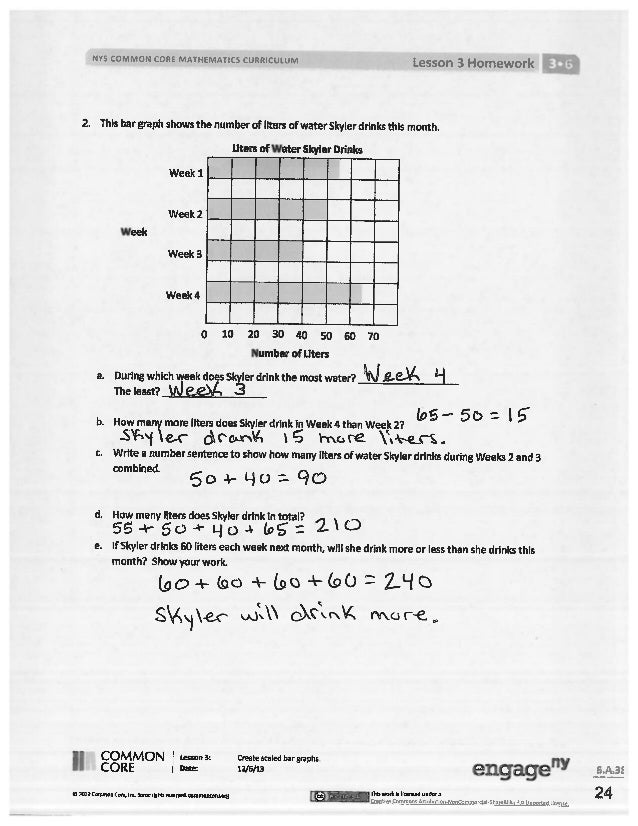 Common Core Mathematics Grade 5 Module 6 Answer Key ...