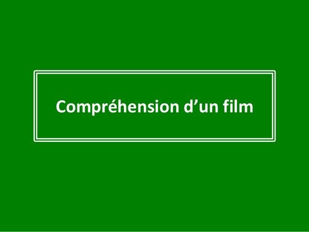 Compréhension d'un film
