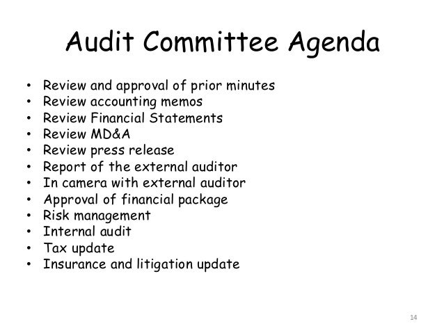 governance and the audit committee