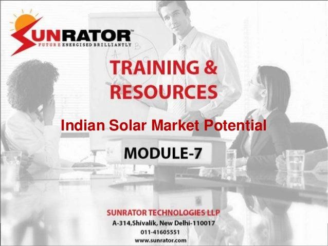 Indian Solar Market Potential