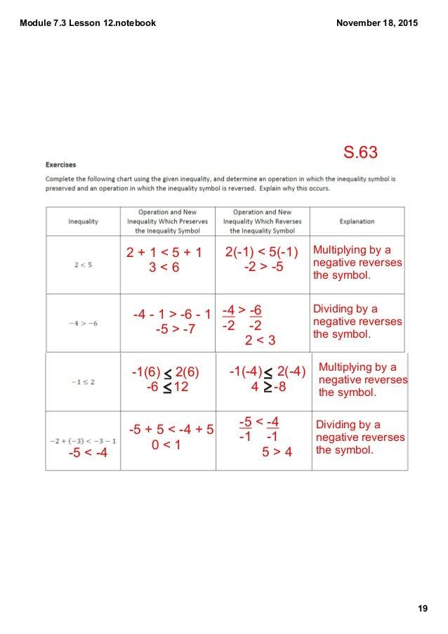 Module 73 Lesson 12