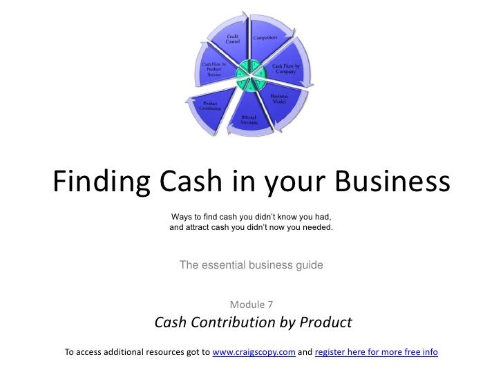 Finding Cash in your BusinessWays to find cash you didn't know you had, and attract cash you didn't now you needed.The ess...