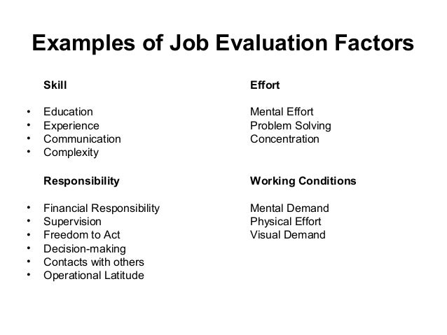 conduct research paper job evaluation Criteria for the evaluation of qualitative research papers a journal of the bsa medsoc group criteria for the evaluation of is the paper as concise as.
