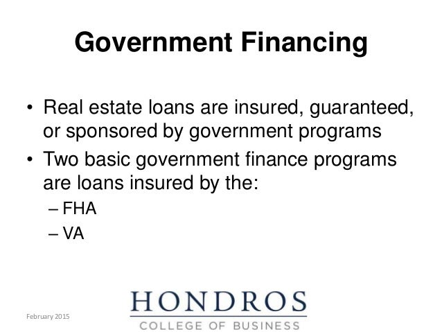 real estate finance chapter 5 conventional insured guaranteed loans Group of experts includes housing counselors, real estate agents, builders, lenders, brokers,  conventional loans  fha insured loans.