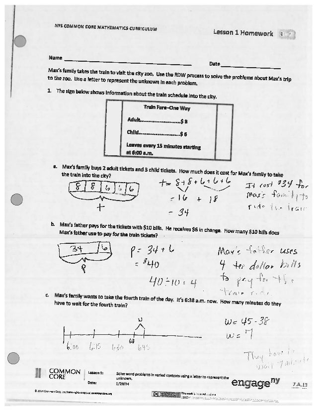 Eureka math algebra 1 module 1 lesson 11 answer key