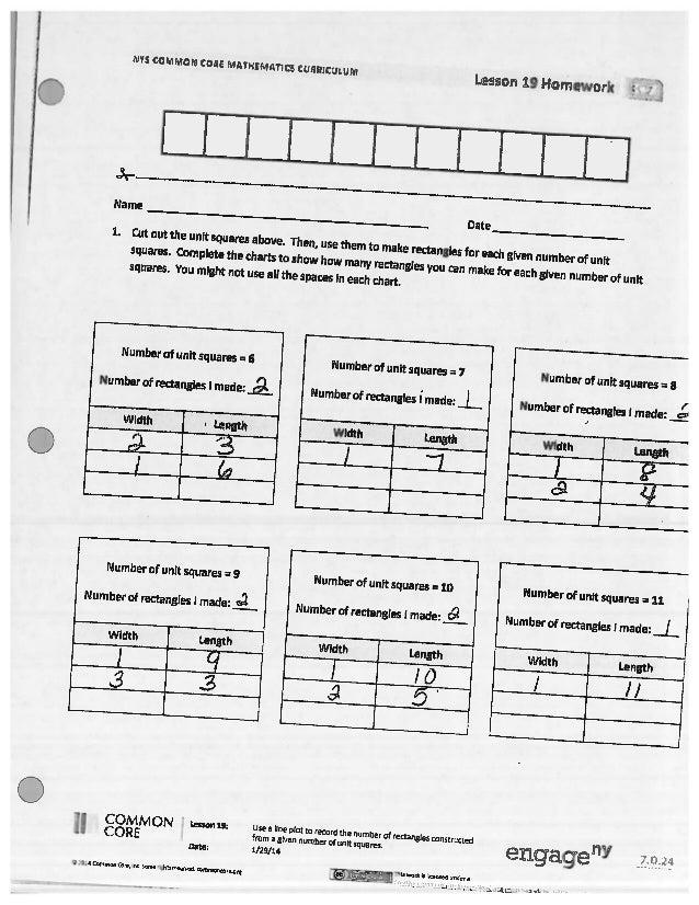 Eureka math common core lesson 19 homework