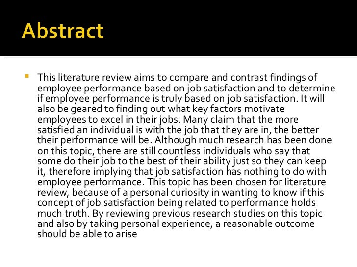 relationship of job satisfaction to job performance in the philippines Chapter 2 review of related literature and studies consistency in its relationship with job satisfaction into job satisfaction and performance at work.