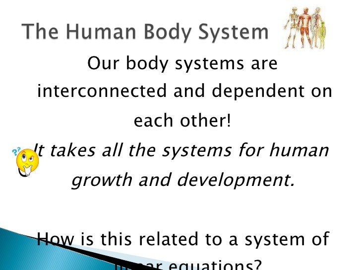 <ul><li>Our body systems are interconnected and dependent on  </li></ul><ul><li>each other! </li></ul><ul><li>It takes all...