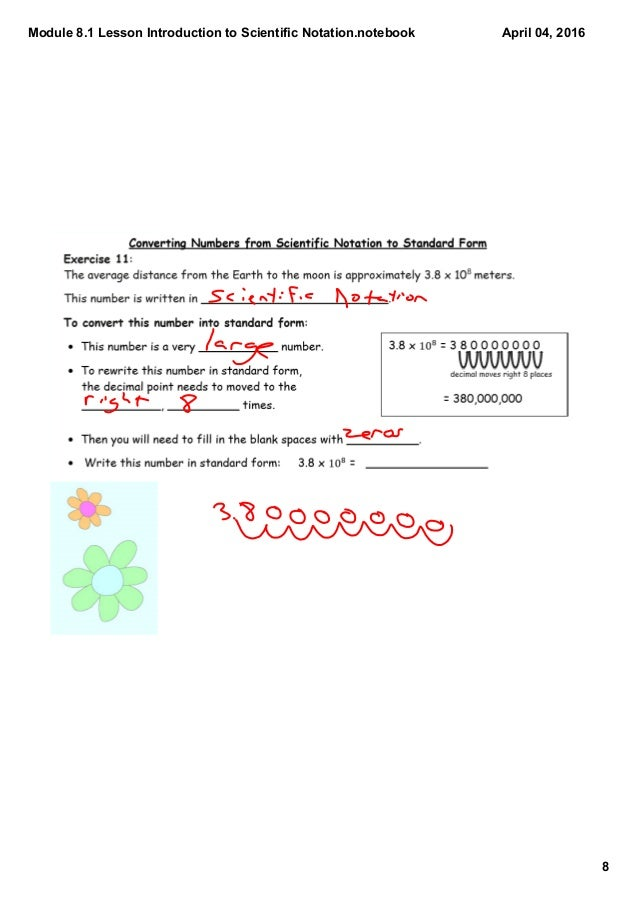 Module 81 Lesson Introduction To Scientific Notation