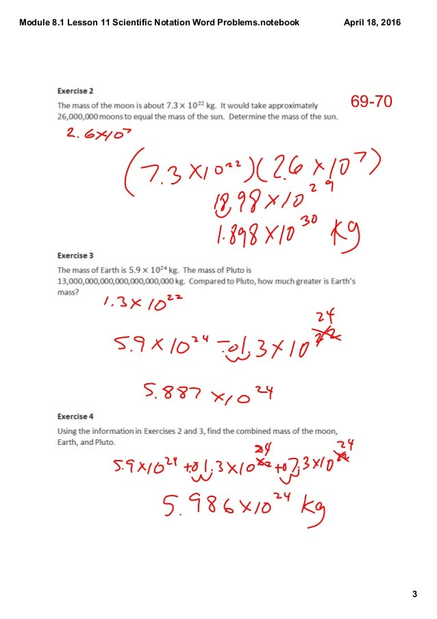 Scientific Notation Division Worksheets Worksheets for all ...