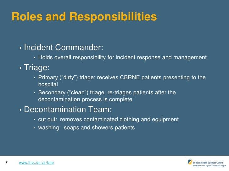 emergency response team roles and responsibilities pdf