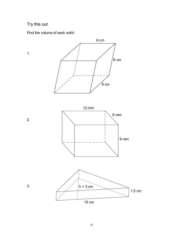 Module 8 geometry of shape and size