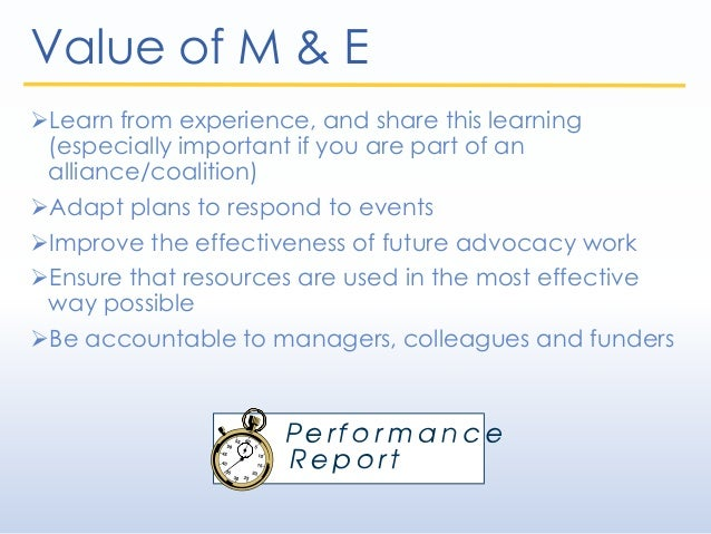 Module 8 - Monitoring and Evaluation Slide 2