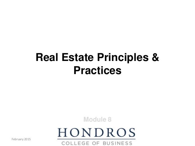 Principles and Practice Module 8 PowerPoint