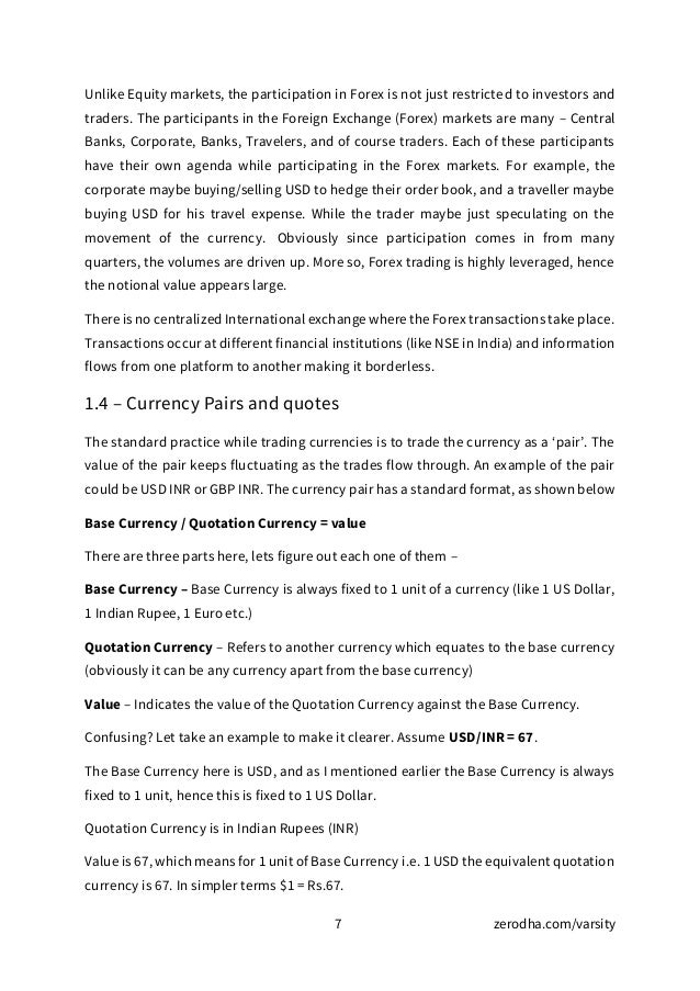 Module 8 currency and commodity futures