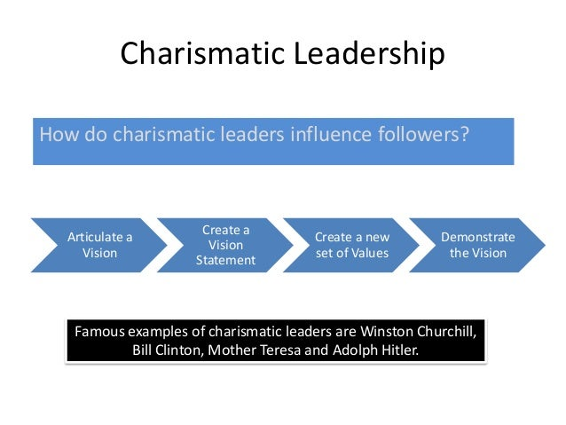 charismatic leadership in organization management essay 1 introduction 11 definition of team leadership in definition, team leadership refers to the leadership practices and values exhibited by leaders, governing a specific group of individuals who are working towards achieving a particular goal or objective.
