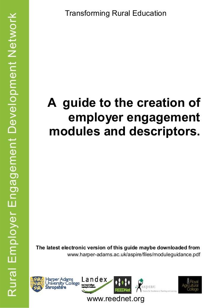 Rural Employer Engagement Development Network               Transforming Rural Education                                  ...