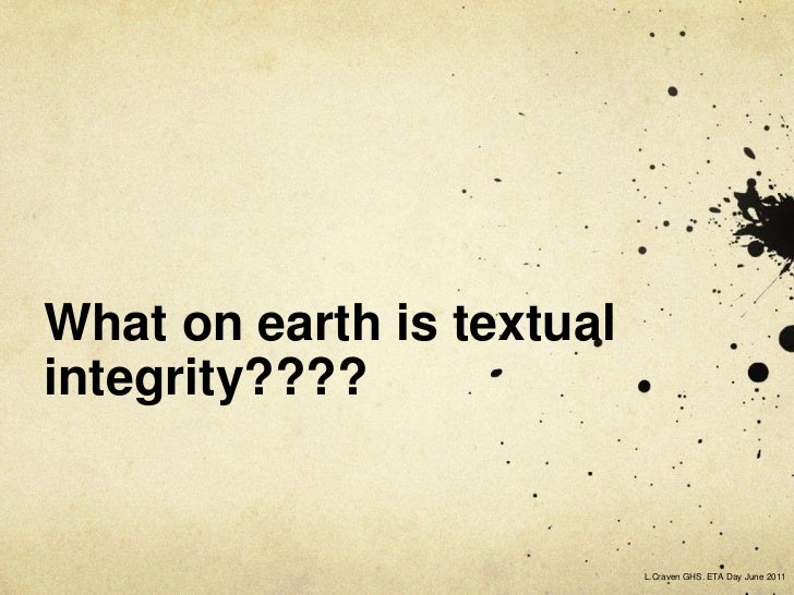 textual integrity definition