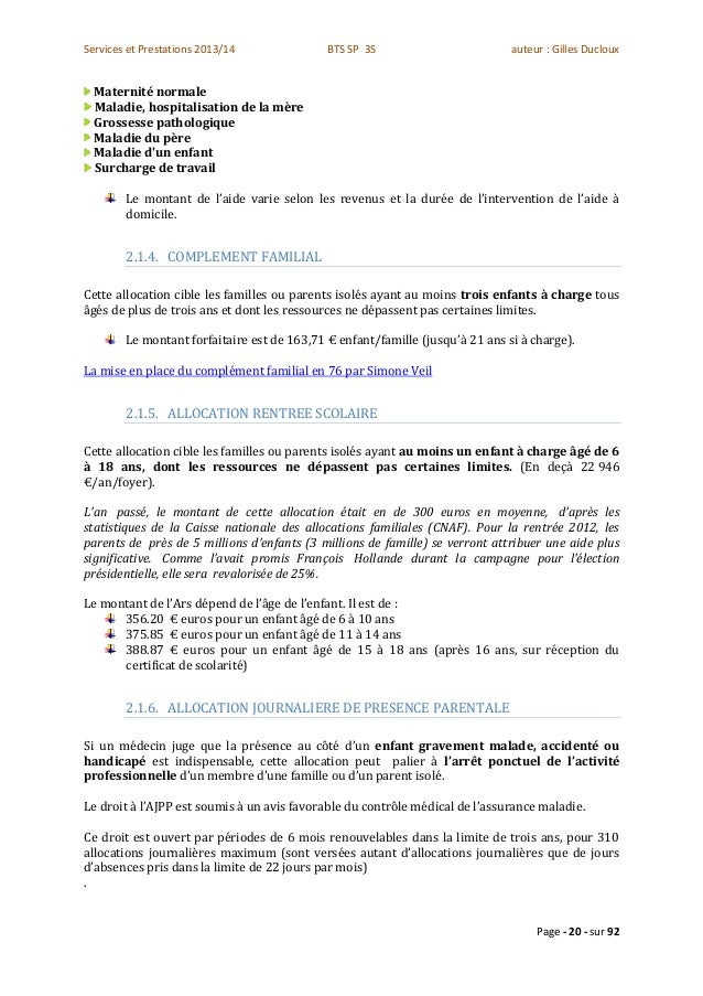 Prise En Charge Caf Aide Menagere