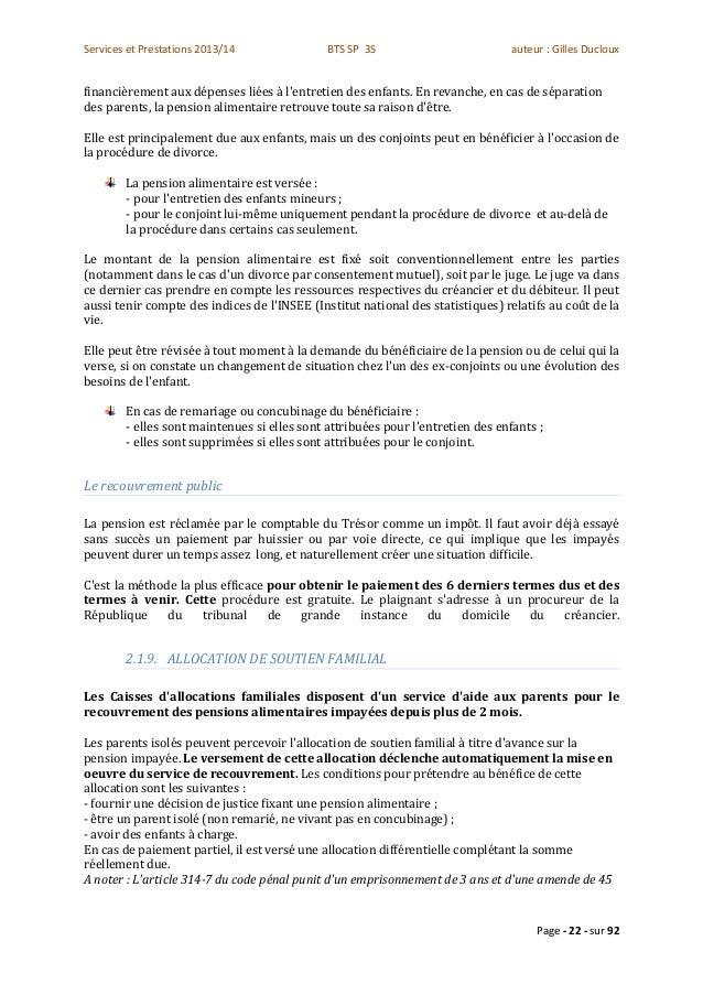 Module c bts sp 3s - Grille pension alimentaire 2013 ...