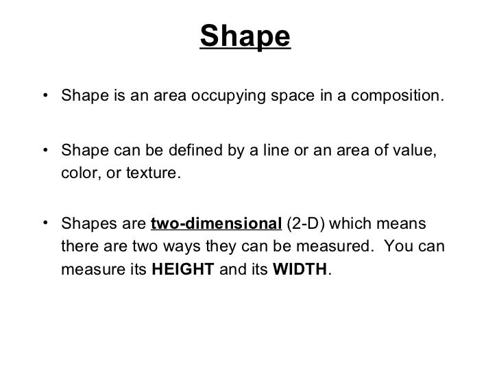 Shape Meaning In Art : The visual elements