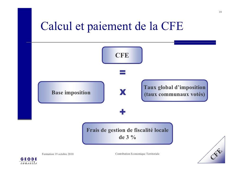 18     Calcul et paiement de la CFE                                          CFE                                          ...