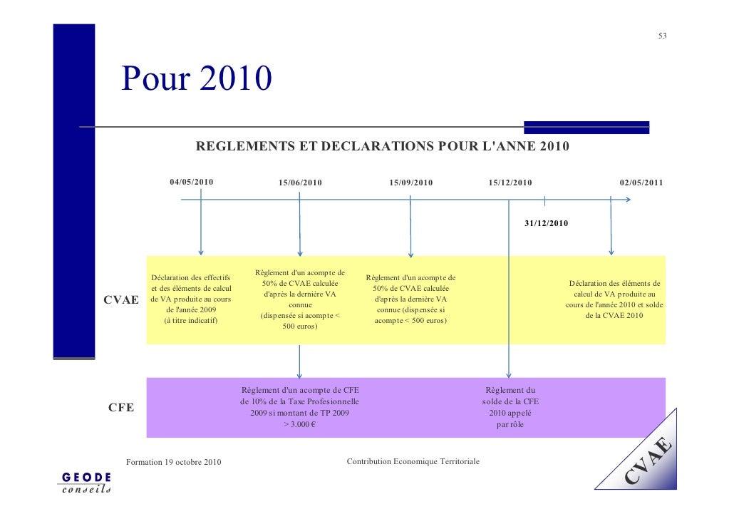 53       Pour 2010                      REGLEMENTS ET DECLARATIONS POUR L'ANNE 2010               04/05/2010              ...