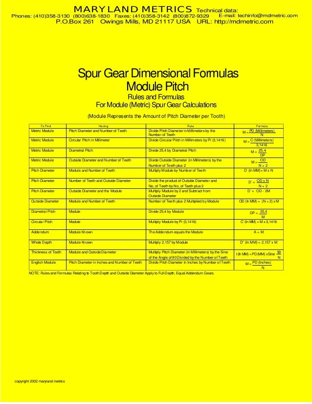 MARYLAND METRICS  Phones: (410)358-3130 (800)638-1830  P.O.Box 261  Technical data:  Faxes: (410)358-3142 (800)872-9329  O...