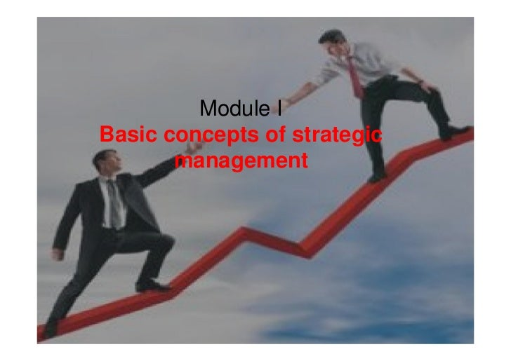 Module IBasic concepts of strategic       management