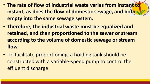 NEUTRALIZATION • Excessive acid or alkaline wastes should not be discharged without treatment into a receiving stream. The...