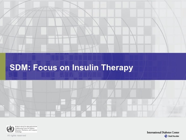 SDM: Focus on Insulin Therapy