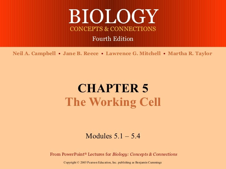 BIOLOGY                       CONCEPTS & CONNECTIONS                                        Fourth EditionNeil A. Campbell...