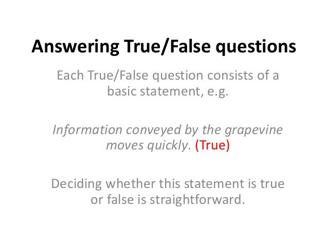 management true false questions Here you can find organisational behaviour true or false questions with answers these questions will be used as revisions for exams for mba, bcom and bba.