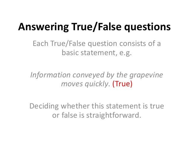 Management and false questions bus