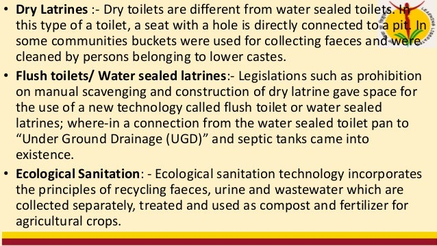 • Total Sanitation Campaign (TSC): • Total Sanitation Campaign (TSC) was initiated on 1st April 1999 under sector reform p...