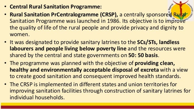 """""""Nirmal Gram Puraskar"""" (NGP): • It is an incentive scheme instituted in October 2003 under the TSC in recognition of the r..."""