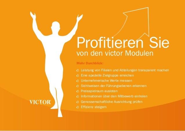 Profitieren Sie von den victor Modulen Mehr Durchblick: šš  Leistung von Filialen und Abteilungen transparent machen  šš  ...