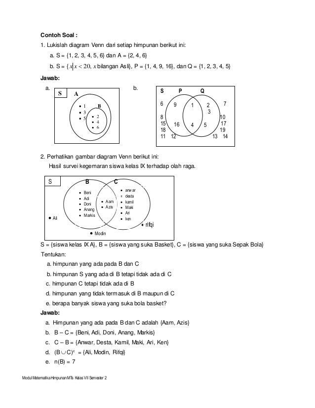 Soal diagram venn kelas 7 yelomphonecompany soal ccuart Gallery