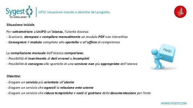 Modulistica digitale interattiva: progetto con l'Università del Piemonte Orientale Slide 3