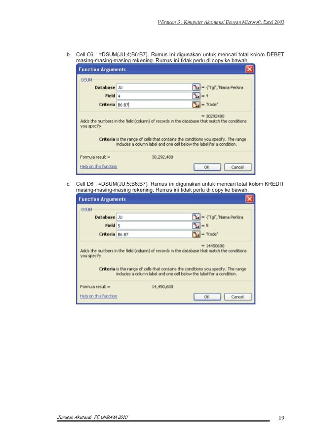 Contoh Jurnal Umum Dengan Excel - Zentoh