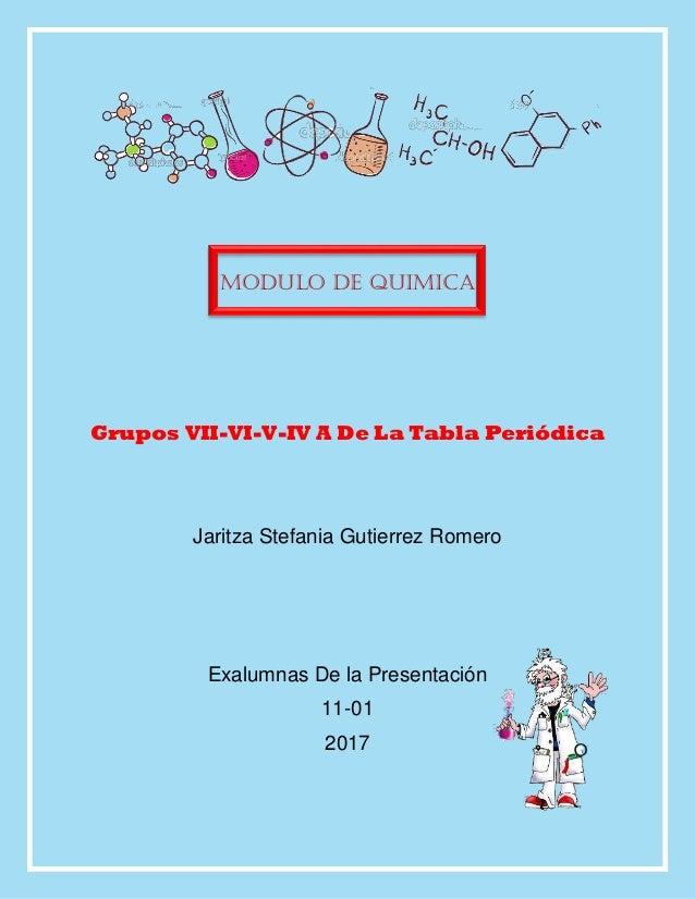 Grupos vii vi v iv a modulo de quimica grupos vii vi v iv a de la tabla peridica urtaz Choice Image