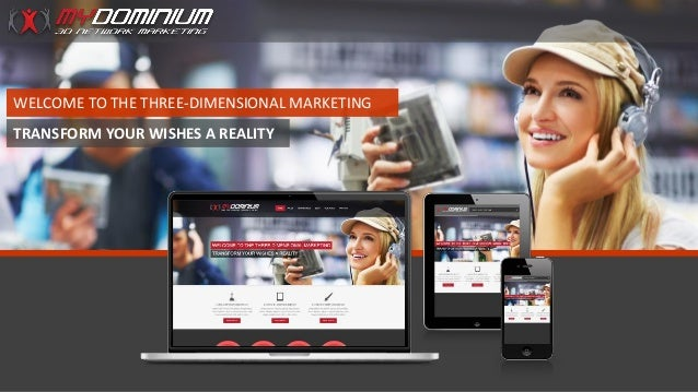 WELCOME TO THE THREE-DIMENSIONAL MARKETING TRANSFORM YOUR WISHES A REALITY