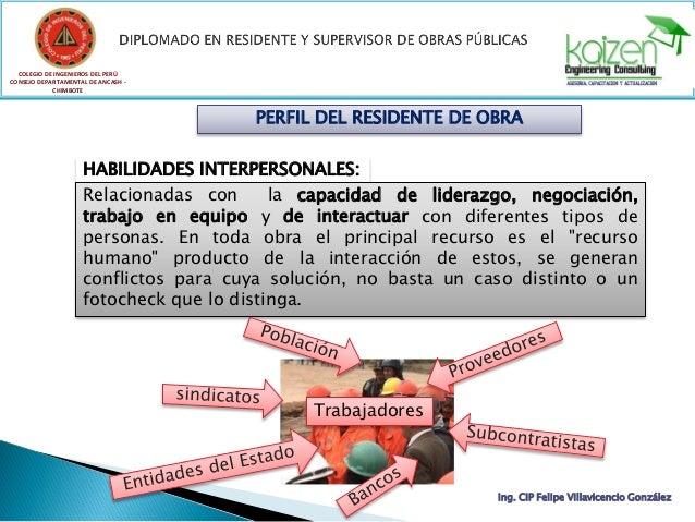 COLEGIO DE INGENIEROS DEL PERÚ CONSEJO DEPARTAMENTAL DE ANCASH - CHIMBOTE Ing. CIP Felipe Villavicencio González PERFIL DE...