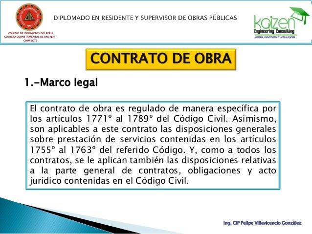 COLEGIO DE INGENIEROS DEL PERÚ CONSEJO DEPARTAMENTAL DE ANCASH - CHIMBOTE Ing. CIP Felipe Villavicencio González CONTRATO ...