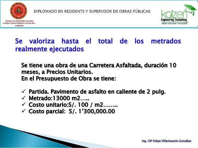 COLEGIO DE INGENIEROS DEL PERÚ CONSEJO DEPARTAMENTAL DE ANCASH - CHIMBOTE Ing. CIP Felipe Villavicencio González Se valori...