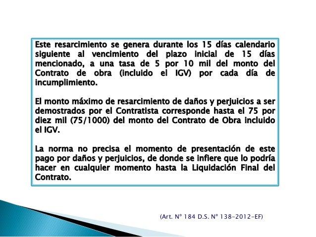 Este resarcimiento se genera durante los 15 días calendario siguiente al vencimiento del plazo inicial de 15 días menciona...