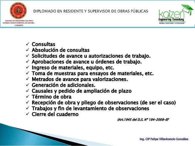 COLEGIO DE INGENIEROS DEL PERÚ CONSEJO DEPARTAMENTAL DE ANCASH - CHIMBOTE Ing. CIP Felipe Villavicencio González TEMA 03: ...