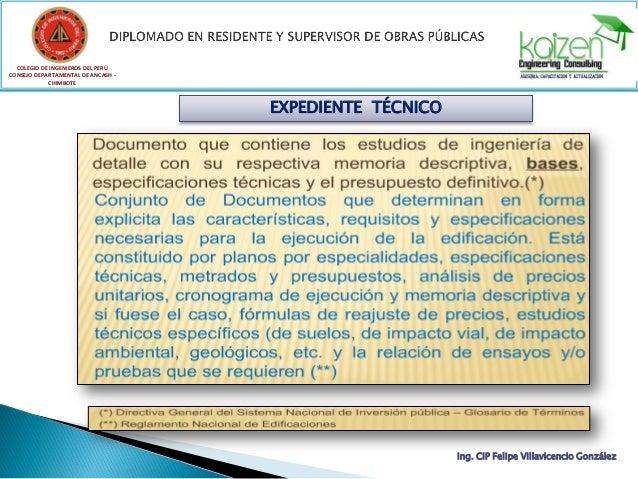 COLEGIO DE INGENIEROS DEL PERÚ CONSEJO DEPARTAMENTAL DE ANCASH - CHIMBOTE Ing. CIP Felipe Villavicencio González EXPEDIENT...